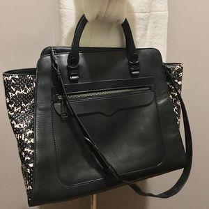 Rebecca Minkoff Large Black Leather Satchel Bag